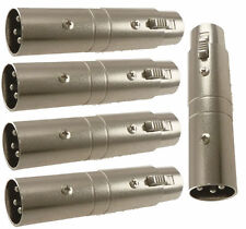 5x 3 pin XLR Female to XLR Male microphone cable gender changer coupler adapter