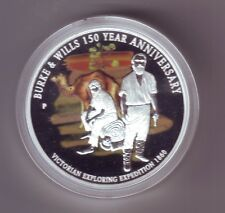 2010 $1 Silver Proof Burke & Wills 150th Anniversary Camel 1860 Expedition VIC