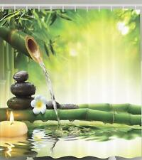 BAMBOO WATER FOUNTAIN JAPANESE FLOWER ZEN SPA GARDEN RELAXING Shower Curtain
