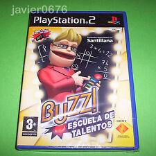 BUZZ ESCUELA DE TALENTOS NUEVO Y PRECINTADO PAL ESPAÑA PLAYSTATION 2