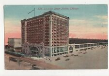 La Salle Street Station Chicago USA Vintage Postcard 265a