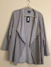 NWT Tommy Hilfiger Women's Open-Front Cardigan Jacket XXL Athluxe Mrsp:$69.99