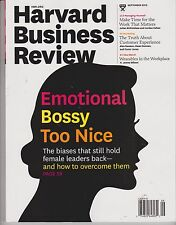 HARVARD BUSINESS REVIEW MAGAZINE September 2013, Emotional Bossy Too Nice.