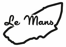 LE MANS RACE CIRCUIT Car vinyl sticker F1 French Grand Prix Formula one