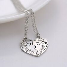 Newest Couple Mother And Daughter Heart To Heart Silver Pendant Necklace Chains
