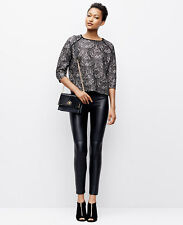 Ann Taylor - SP (4P-6P) Black & Beige Bonded Lace Sweater $149.00 (352631H)