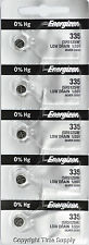 5 pcs 335 Energizer Watch Batteries SR512SW 512SW 0% HG