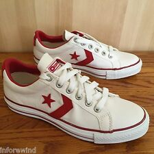 NEW Converse Men's Star Player Pro Ox WHITE RED ALL CLASSIC 1J451 SHOES SZ 7.0