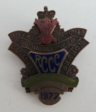 1977 RCCC ROYAL VICTORIA JUBILEE TROPHY CURLING CENTER WINNER PIN  (INV1168)