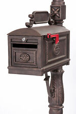 Locking BRONZE Mailbox Premium Secure Cast Aluminum Mailbox Better Box Mailboxes