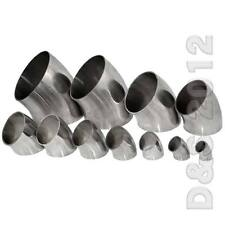"""32MM 1-1/4"""" 1.25"""" Sanitary Weld Elbow Pipe Fitting 45 Degree Stainless Steel 316"""