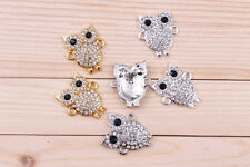 Owl Crystal Bead pave Disco Connector New arrival For Bracelet 20mmx15mm 8pcs