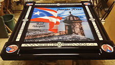 Puerto Rican Flag and Morro Domino Tables by Art Personalized with Your Name