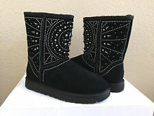 UGG CLASSIC SHORT FIORE BLACK STUDDED BOOT US 9 / EU 40 / UK 7.5 - NIB