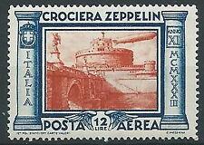 1933 REGNO POSTA AEREA ZEPPELIN 12 LIRE MNH ** - T60-3