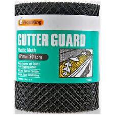 "1) ROLL 6"" X 20' GUTTER GUARD PROTECTOR  20' of Plastic Mesh Gutterguard NEW"