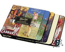 NEW OFFICIAL CADBURYS COFFEE MUG CUP SET OF 4 ADVERT STYLE COASTERS