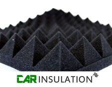 4x Nero Piramide Schiuma pannelli 50mm AUTO isolante audio veicolo ISOLANTE aperto