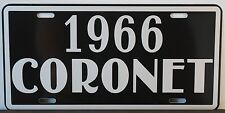 1966 CORONET METAL LICENSE PLATE DODGE CONVERTIBLE WAGON SEDAN 318 440 500 HEMI