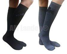 AM Landen®LADIES' Knee High Wool Socks, Black+Gray 2 pairs