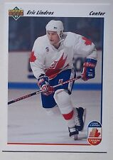 UPPER DECK HOCKEY. ERIC LINDROS CANADA CUP 1991-92. CARD NO. 9.