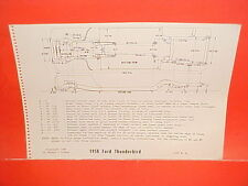 1958 FORD THUNDERBIRD T-BIRD TUDOR HARDTOP CONVERTIBLE FRAME DIMENSION CHART
