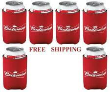 BUDWEISER 6 BUD BEER CAN WRAP COOLERS KOOZIE COOZIE COOLIE HUGIE NEW