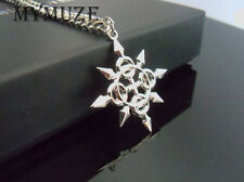 Kingdom Hearts Axel Chakrams Eternal Flames Charm Cosplay Pendant Necklace
