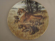 LION collector plate MOTHER'S PRIDE Greg Beecham HEART OF THE WILD #2 Lioness