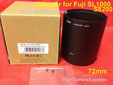 CAMERA LENS ADAPTER TUBE for SL1000 S8200 FUJI FUJIFILM FinePix 72mm: 2 PART