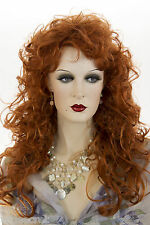 Fire Red (Vivid Orange Red) Red Long Wavy Curly Wigs