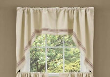 Farm House Cotton Country Cottage Window Swags 72 x36 (1 pair)