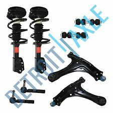 2 Ready Strut + 2 Control Arm and Ball Joint + 2 Sway Bar Link + 2 Tie Rod End