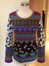 Olivier Philips Sweater Size 14 BNWT Purple Green Blue Black RRP £131 Now £59