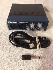Presonus Audiobox 22VSL Audio Box USB 2.0 Computer Recording Interface.