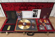 KISS BILL AUCOIN OWNED - GOLD EDITION 2001 GUITAR CASE BOX SET #106 w/COA PROOF