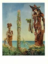 """1973 Vintage SURREALISM """"NAPOLEON IN THE WILDERNESS"""" MAX ERNST COLOR Lithograph"""