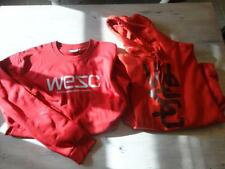 MENS WESC CREW NECK & HOODED SWEATER RED QTY2 LOT XLARGE XL