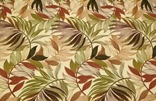 RICHLOOM OASIS NUTMEG LEAF TROPICAL GREEN OUTDOOR FURNITURE FABRIC BY THE YARD