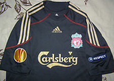 GERRARD 8 Europa League 2009 - 2010 Liverpool away shirt size L jersey great top