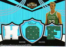 2006 Topps Triple Threads Larry Bird HOF Serial #d 3/3 Sapphire Boston Celtics