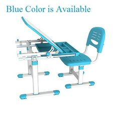 Height Adjustable B201 Healthy Ergo Study Desk & Chair Set, BLUE, Tiltable Top