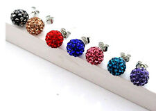Wholesale 7 pairs of 8 mm/disco ball beads for the crystal rhinestone ear stud