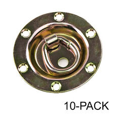 Rotating/Recessed D-ring   3,500 lb. Capacity Tiedown Gold 10-Pack