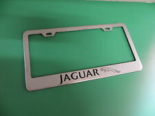 "(1pc)"" JAGUAR * "" Stainless Steel license plate frame L"