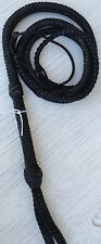 8 foot 12 Plait Nylon Bull Whip Black Cat Nylon Bullwhip Whips