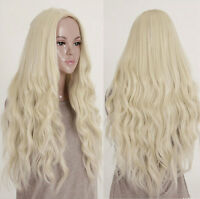 Women 's Long Curly Wig Wigs Blonde Sexy Fashion Costume Party Cosplay Hair +Cap