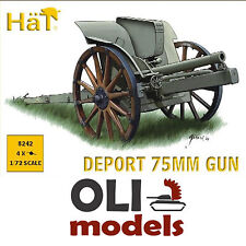 1/72 WWI/WWII Italian Deport 75mm Gun mod.1911 (Set of 4) - HaT 8242