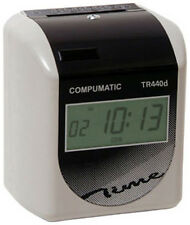 NEW Compumatic TR440d Heavy Duty Time Clock w/ 250 Time Cards + Rack + Ribbon