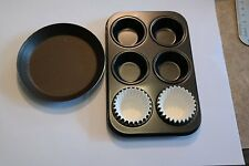 EASY BAKE Oven 2 PAN SET Cupcake and Muffin Non Stick Pans AND PIE PAN